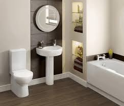 small restrooms trilobyte painting in white wooden frame brown
