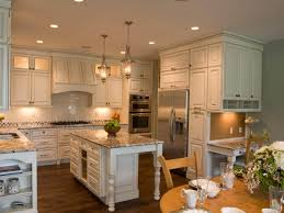 country cottage kitchen design white solid slab granite countertop