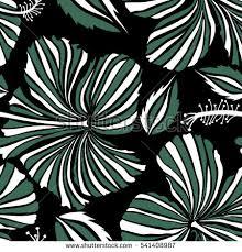print summer exotic jungle plant tropical stock vector 266281208