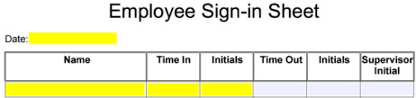 employee sign in sheet template eforms u2013 free fillable forms