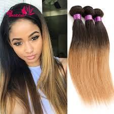 bohemian hair weave for black women ombre hair extensions peruvian virgin hair straight human hair