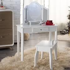 Vanity And Stool Set Mirrored Vanity Table And Stool Vanity Decoration