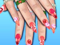 hannah montana nails dress up games for girls