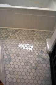 Mosaic Bathroom Floor Tile Ideas Marble Hex Floor Tile 300 For A Small Bath Space Master