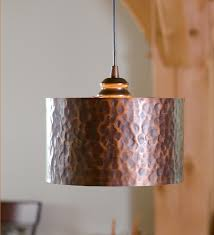 Drum Shade Island Lighting Screw In Hammered Copper Drum Pendant Shade 79 95 From Plow And