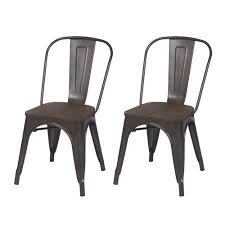 Grey Bistro Chairs Adeco Tolix Style Matte Silver Grey Metal Dining Bistro Chair