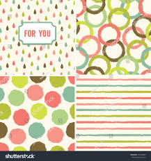 fun seamless hipster background pattern set stock vector 155453885
