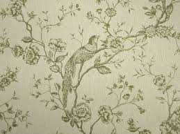 uccelli tapestry upholstery fabric olive millshop