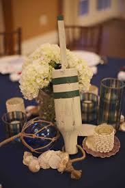 Nautical Table Decorations Rehearsal Dinners Photos Wooden Buoy Centerpiece Inside Weddings