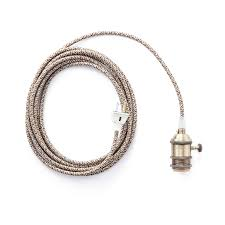 Pendant Light Cord Color Cord Company Brass In Pendant Light Huckberry