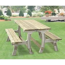 Castlecreek Patio Furniture by Flip Top Bench Table Frame Set Sand 93942 Patio Furniture At