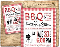 baby shower invitation barbecue baby q baby shower invite