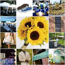 Sunflower Wedding Decorations Royal Blue And Yellow Wedding Decor Ideas Blue And Yellow Wedding
