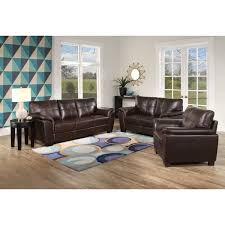 Overstock Living Room Sets Abbyson Belize Brown Leather 3 Living Room Set Free