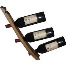 handmade wooden wine bottle holder