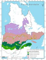 Map Of Quebec Uqam Bicéab Carbbas The Boreal Biome Of Quebec