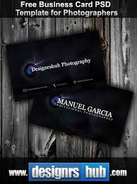 Photography Business Cards Psd Free Download Free Business Card Psd Template For Photographers Photoshop