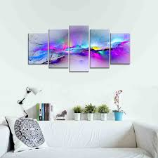 wieco art changing colors giclee canvas prints 5 panels modern