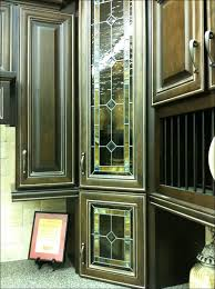 kitchen wall display cabinet with glass doors stained glass door