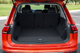 volkswagen tiguan 2018 interior 2018 volkswagen tiguan real world cargo space news cars com