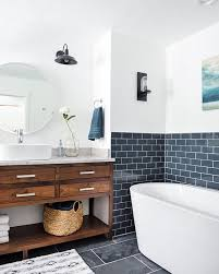 blue and white bathroom ideas blue and wood and white bathroom so fresh home bathrooms