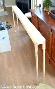 back of couch table back of couch table couch console table honey we are home