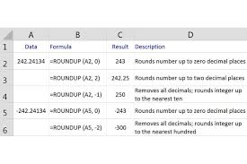 round numbers up in excel with the roundup function