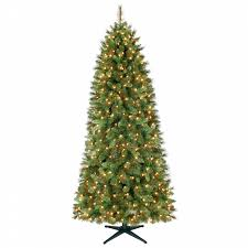 smith 7 ft stratford slim pine tree with clear