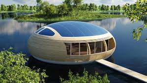 Waternest  Wonderful Floating Solar Powered Home Design The - Solar powered home designs