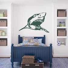 scary shark wall art decal