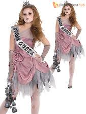 Dead Prom Queen Halloween Costume Girls Zombie Costume Ebay