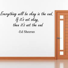 ed sheeran wall sticker quote wall chimp uk ed sheeran wall sticker quote