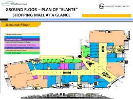 floor plan of a shopping mall elante shopping mall chandigarh l t