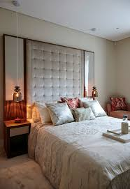 headboard with built in bedside tables bedroom mirror ideas bedroom contemporary with upholstered headboard