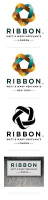 logo ribbon ribbon weft and warp merchants logo and label by sherborne s