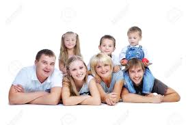 happy big family parents with stock photo picture and