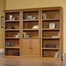 sauder 5 shelf bookcase wall bookcase in carolina oak finish 402172 3 pkg