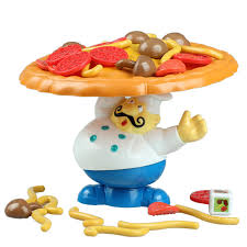 chef pizza chef cook pizza food tower balance board in board from