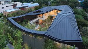 Courtyard House Designs Cutout Roof Design