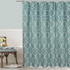 Luxurious Grey Seafoam Jacquard Waffle Shower Curtains Geometric Bed Bath U0026 Beyond