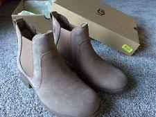 s ugg australia light grey bonham chelsea boots ugg australia wear to work solid boots for ebay