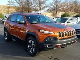 orange jeep 2016 used 2016 jeep cherokee trailhawk for sale in greenville sc carmax