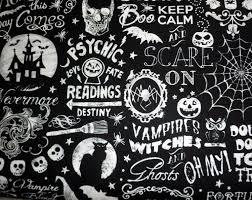 wicked fabric halloween fabric novelty fabric skull fabric