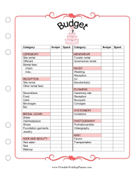 downloadable wedding planner the wedding planner budget worksheet helps you keep tabs on costs