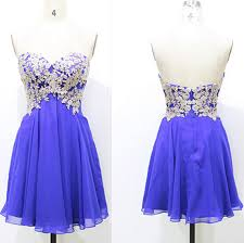ivory lace and blue chiffon short prom dresses for teens simple
