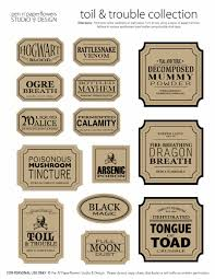 apothecary jar labels toil u0026 trouble collection page 3