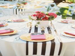 black white striped table runner 10pcs 14 x 108 wide black and white striped chiffon table runner