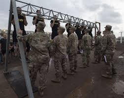 During Challenge Members Of Cjtf Hoa Strive For Gold During German