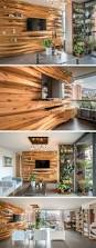 wooden home decor items a wavy wood accent wall creates multiple shelves in this apartment
