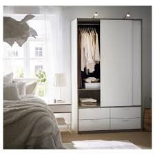 Ikea Pull Out Drawers Trysil Wardrobe W Sliding Doors 4 Drawers White 118x61x202 Cm Ikea